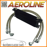 MGB 1976-1982 Aeroline Black 14 Row Oil Cooler With Stainless Steel Hoses
