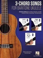3-Chord Songs for Baritone Ukulele G-C-D Sheet Music Melody Chords and 000156008