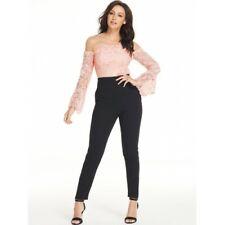 1a3fad8b1b2 Michelle Keegan Lace Body Tapered Leg Jumpsuit 8 Black Pink Trouser Dress  BNWT