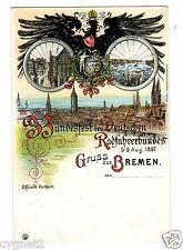 POSTCARD GERMAN 1897 BREMEN BICYCLE ASSOCIATION FESTIVAL