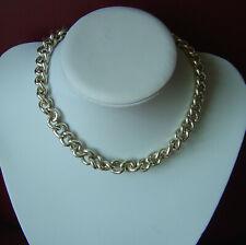 Necklace 1950s Large Link Gilt Chain Snug Fit