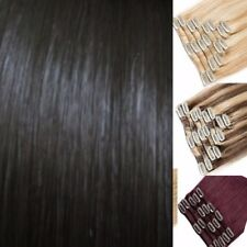 """Real Quality HAIR EXTENSIONS CLIP IN FULL HEAD 22"""" 18"""" 15"""" 8pcs Blonde Burgundy"""