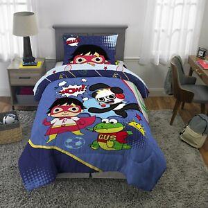 Ryan's World Red Titan Boys Full Comforter & Sham Set, 2 Piece Bedding
