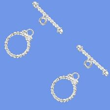 Toggle Clasp Jewelry Crafting Making Finding Rope Silver Single Strand Set Of 2