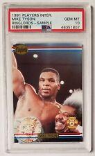 1991 Players International MIKE TYSON PSA 10 Gem Mint Ringlords Sample Boxing