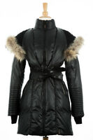 100% AUTHENTIC Rudsak Sophie Black Down Fur Puffer Coat Women