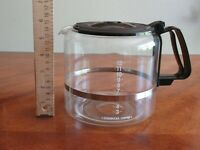 Starbucks Coffee Drip Coffeemaker Replacement Carafe 12 Cup Glass Black Lid