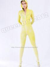 100% Latex Rubber 0.45mm Zentai Catsuit Bodysuit Suit Unitard Zip Hood Clothhing