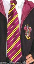 Harry Potter GRYFFINDOR NECKTIE Neck Tie Hogwarts Costume LICENSED Burgundy NEW