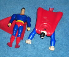 JLU SUPERMAN ANIMATED BURGER KING LOT OF 2 TOY FIGURES CAKE TOPPERS