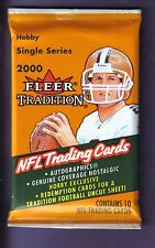 2000 Fleer Tradition Football Hobby Pack Fresh from Box! Brady RC year
