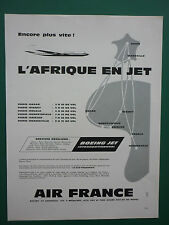 10/1960 PUB AIR FRANCE AIRLINE AFRIQUE AVION CARAVELLE BOEING AIRLINER FRENCH AD