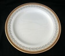 "Antiq ROYAL CAULDON BROWN WESTHEAD MOORE Gold Band w Greek Key 10"" Dinner Plate"