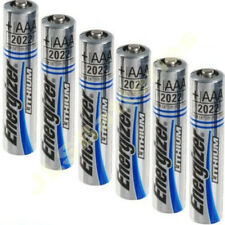 6 x AAA ENERGIZER Ultimate Lithium Batteries MN2400