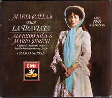 VERDI LA TRAVIATA Maria Callas Alfredo Kraus Mario Sereni FRANCO GHIONE EMI 2CD