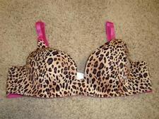 ~Creative Casuals Pink/Brn/Blk~Leopard Print UW Seamless Bra 34B FREE Shipping~