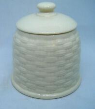 Aynsley IVORY BASKETWEAVE Sugar Box / Lidded Sugar Bowl / Pot