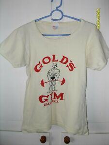 GOLD'S GOLDS GYM OFFICIAL T-Shirt OLD DESIGN VINTAGE 80'S SIZE SMALL