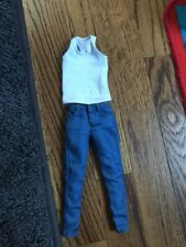 1/6 Man clothes custom wolverine White Base Tank Top with Jeans for hot toys USA