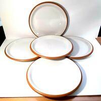 Crown Corning Terra Cotta Dinner Plate Set of 5 Japan, Vintage