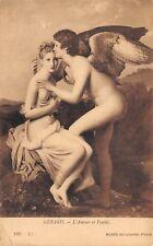 Postcard Art Love and Psyche L'Amour The Louvre Museum Paris Vintage Unposted Pc