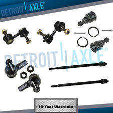 Lower Ball Joint Inner Outer Tie Rod End Sway Bar Link Set of 8 for 01-05 Civic