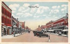 Kearney Nebraska~Central Avenue~5 & 10c Store~Beasly Grocery~1920s Cars~PC