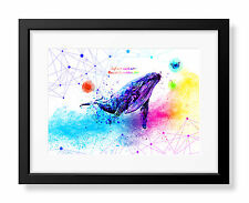 Uhomate Sea Animals Whale Poster Blue Whale Decor Nursery Wall Decor C104