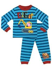 Peppa Pig George Dino Boys Blue Checked Pyjamas Sleepwear Age 2//3 3//4 4//5 Years