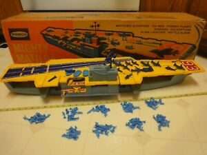 Rare! Remco Battery Operated Mighty Matilda, Motorized Aircraft Carrier. Works!