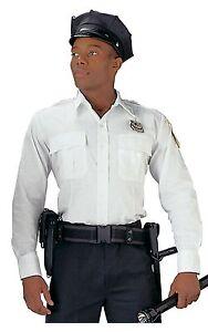 Police & Security Uniform Shirt Light Blue or White Long Sleeve Work Shirts S-2X