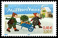"TIMBRE FRANCE NEUF 2001 ""meilleurs voeux"" y&t 3438"