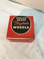Vintage Raybestos Roller Skate Wheels In Original Box Wood Wheels 8 original whe
