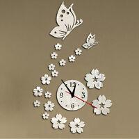 Modern DIY Large Wall Clock 3D Mirror Surface Sticker Home Decor Art Design