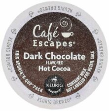 Cafe Escapes Dark Chocolate Hot Cocoa 96 K Cups for Keurig