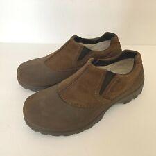 CROCS Brown Croslite & Faux Leather Faux Fur Lined LOAFER SHOES Men's Size 9 M