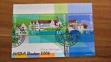 Schweiz, MiNr. Block 40, NABA Baden 2006, Ersttagstempel/Canceled First Day