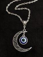 Moon Pendant Turkish Evil Eye Amulet ayn al-ḥasūd Nazar Greek Protection Charm