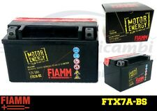 FTX7A-BS BATTERIA MOTO FIAMM MOTOR ENERGY YUASA YTX7A-BS 6 Ah 75 A    + LIQUIDO