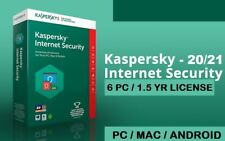 Internet Security 2021 2022 6PC 18month Multi Device Antivirus Windows Mac