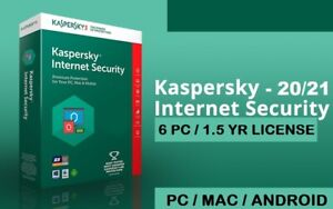 Internet Security 2021 2022 6PC 18month Multi Device Antivirus Windows Mac