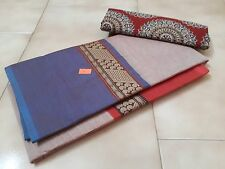 Pure cotton chettinad saree and kalamkari blouse material with free shipping.