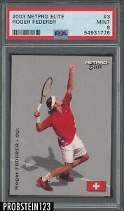 2003 Netpro Elite Tennis #3 Roger Federer RC Rookie PSA 9 MINT