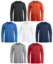 t-shirt maglia maglietta maniche lunghe aderente colletto basso 100% cotone uomo