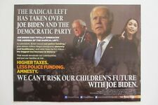 Anti Biden Large 2020 Postcard-The Dems Have Moved Way Too Far To The Left