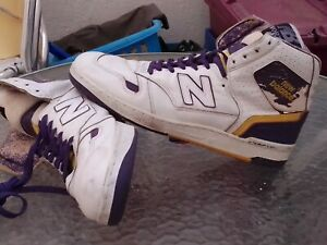 80,S VTG NEW BALANCE 790 WORTHY LAKERS SZ 16 (52) HI TOPS BASKETBALL