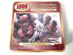 Now where did he go 1000pc Jigsaw puzzle Complete Teddy Bears With Tin