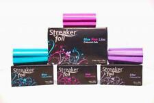 Rand Rocket Streaker Coloured Foil 12cm x 100m - Blue Pink & Lilac BRAND NEW