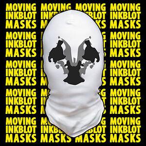 Halloween Costume Rorschach Moving Inkblot Mask - Cracked
