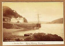 More details for king harry ferry, near truro, cornwall. original 1880s albumen photograph
